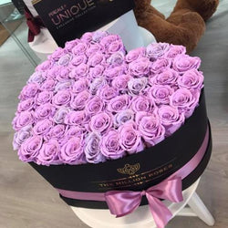 The Million Love Heart -  Purple Roses - Black Box - The Million Roses Slovakia