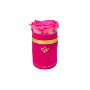 Single Rose Box - Pink Suede - The Million Roses Slovakia