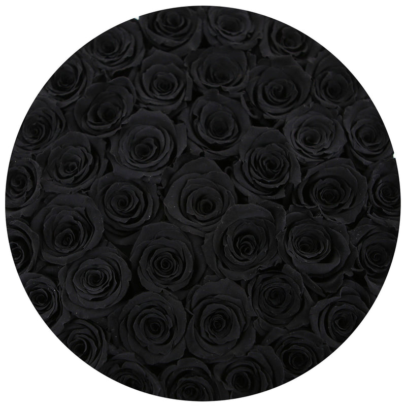Medium - Black Eternity Roses - Gold & Black Box - The Million Roses Slovakia