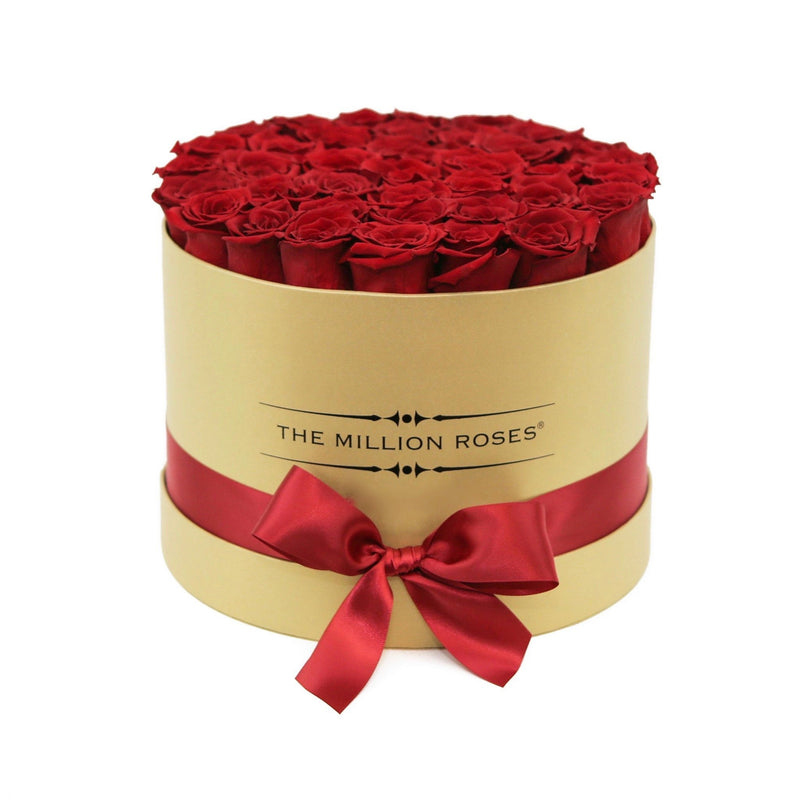 "Medium - Red Eternity Roses - Luxury""24K"" Box - The Million Roses Slovakia"