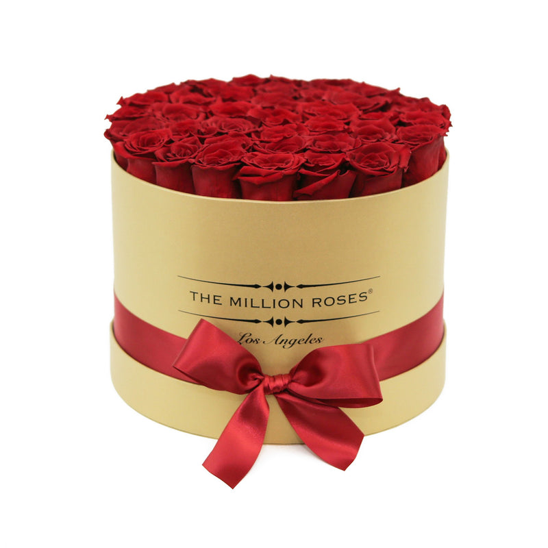 Medium - Red Roses - Gold Box - The Million Roses Slovakia