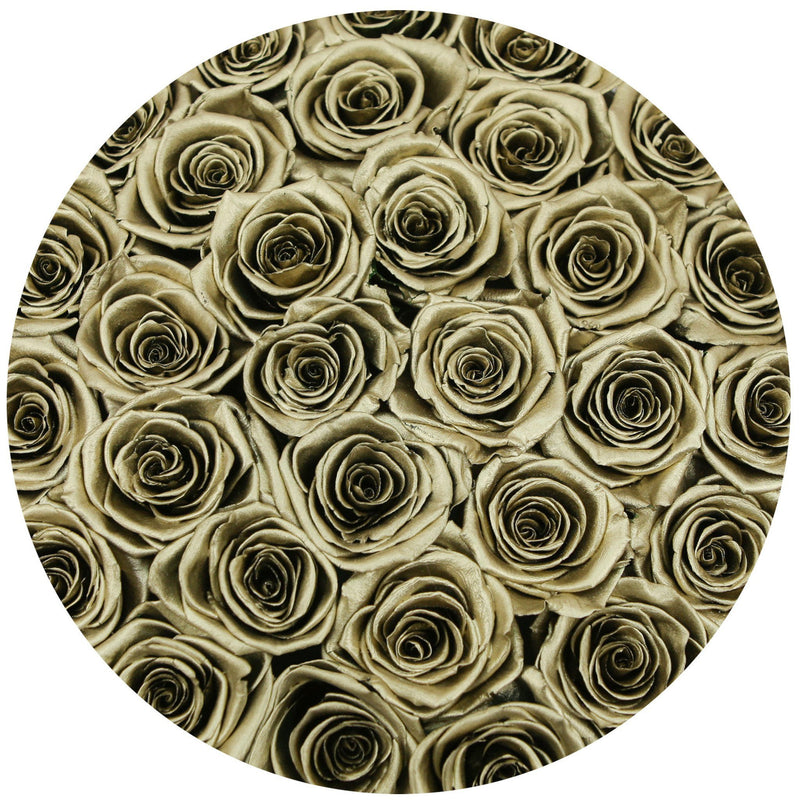 Medium - Gold Eternity Roses - White Box - The Million Roses Europe - Italia, France, Österreich, Deutschland, Espana