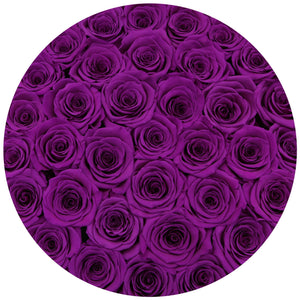 Medium - Purple Eternity Roses - White Box - The Million Roses Slovakia