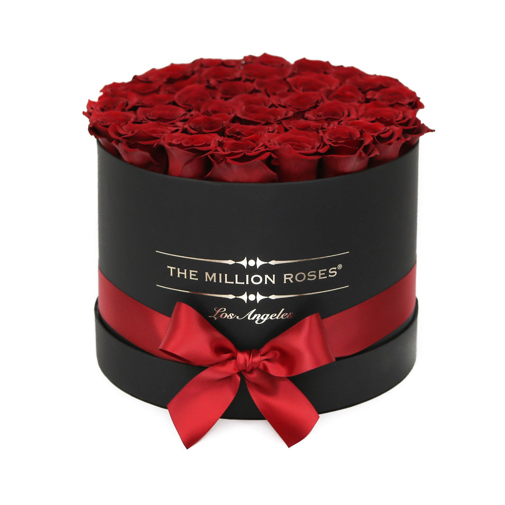 Medium - Red Roses - Black Box