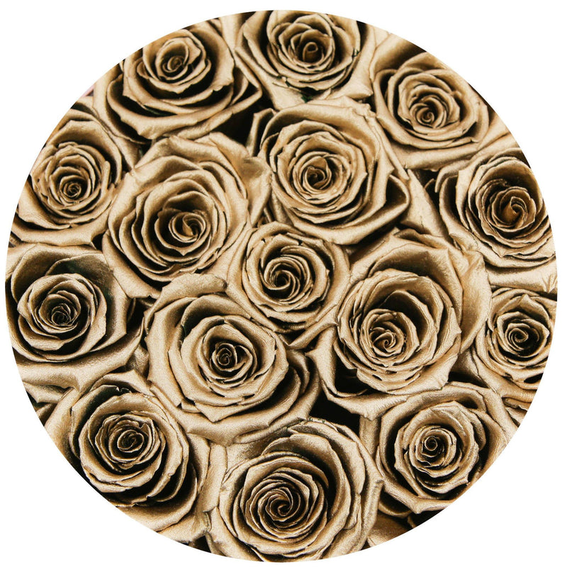 Small - Gold Eternity Roses - Gold & Black Box - The Million Roses Slovakia