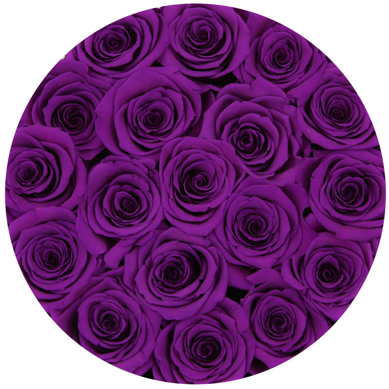 Small - Purple Eternity Roses - White Box - The Million Roses Slovakia