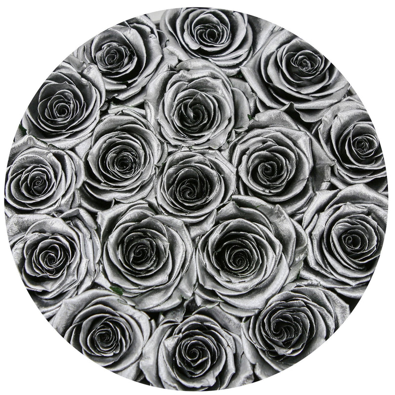 Small - Silver Eternity Roses - Silver Box - The Million Roses Slovakia