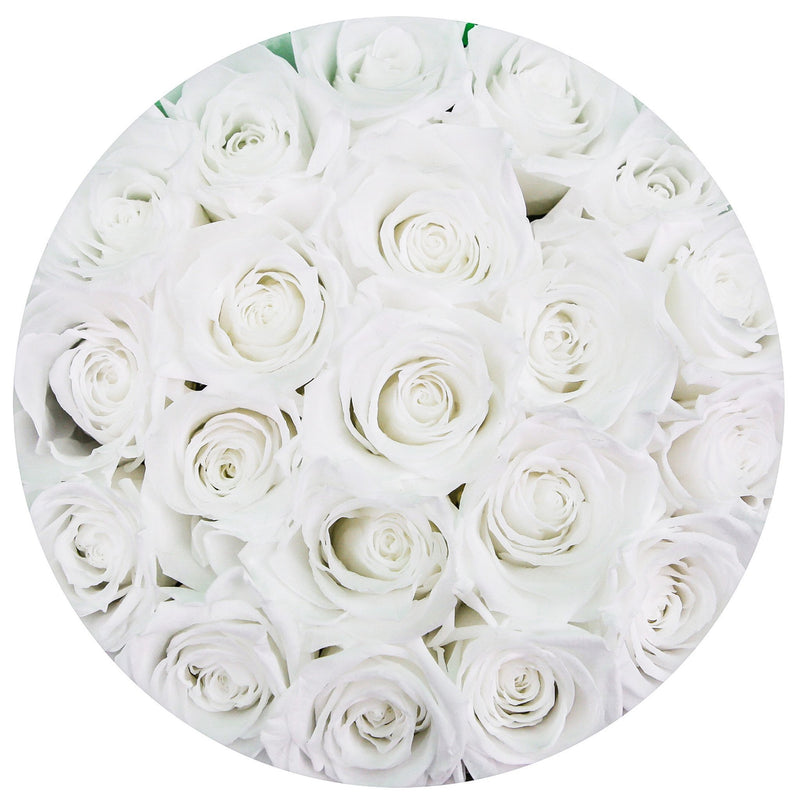 Small - White Eternity Roses - White Box - The Million Roses Slovakia