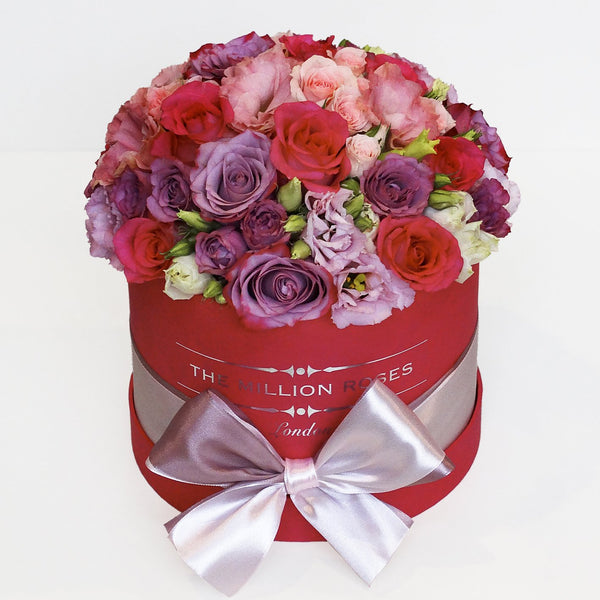 Mix Roses - Small Red Box - The Million Roses Slovakia