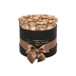 Small - Gold Eternity Roses - Black Box - The Million Roses Slovakia