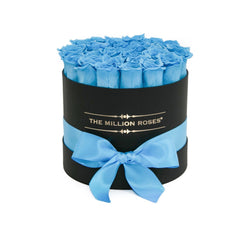 Small - Light Blue Eternity Roses - Black Box - The Million Roses Slovakia
