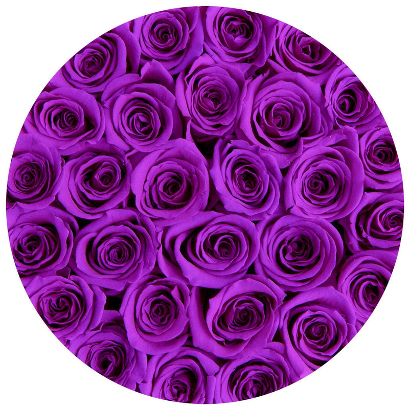 Small - Purple Eternity Roses - Vanilla Box - The Million Roses Slovakia