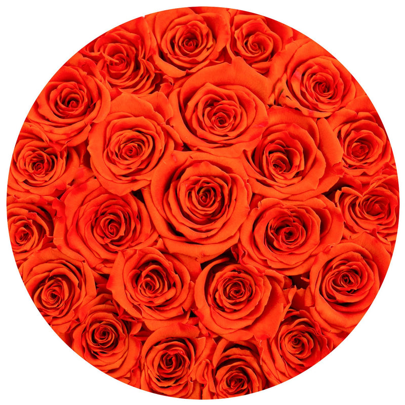 Small - Hermès Orange Eternity Roses - Black Box - The Million Roses Slovakia