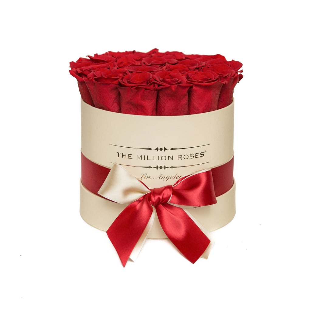 Small - Red Roses - Vanilla Box