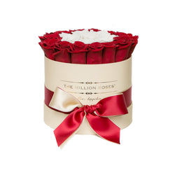 Small - Red & White Roses - Vanilla Box - The Million Roses Slovakia
