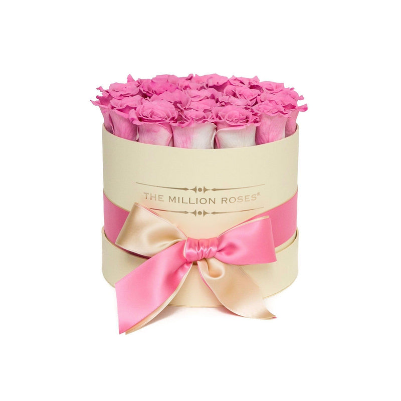 Small - Candy Pink Eternity Roses - Vanilla Box - The Million Roses Slovakia