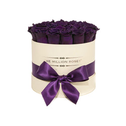 Small - Dark Purple Eternity Roses - Vanilla Box - The Million Roses Slovakia