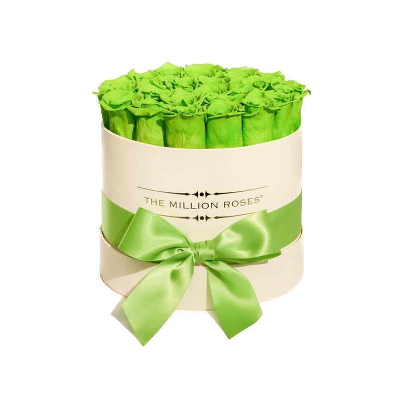 Small - Green Eternity Roses - Vanilla Box - The Million Roses Slovakia
