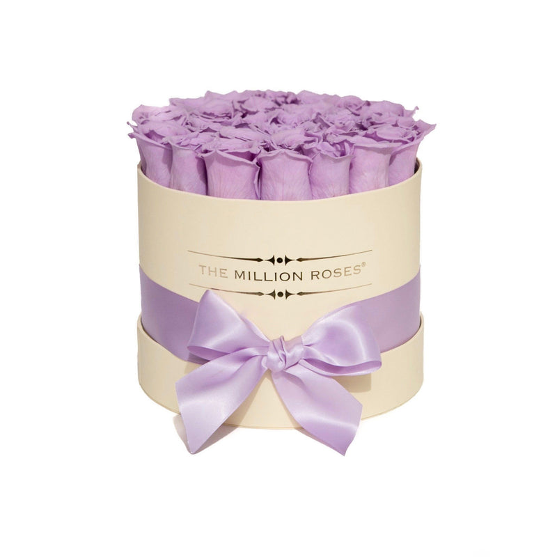 Small - Lavender Eternity Roses - Vanilla Box - The Million Roses Slovakia