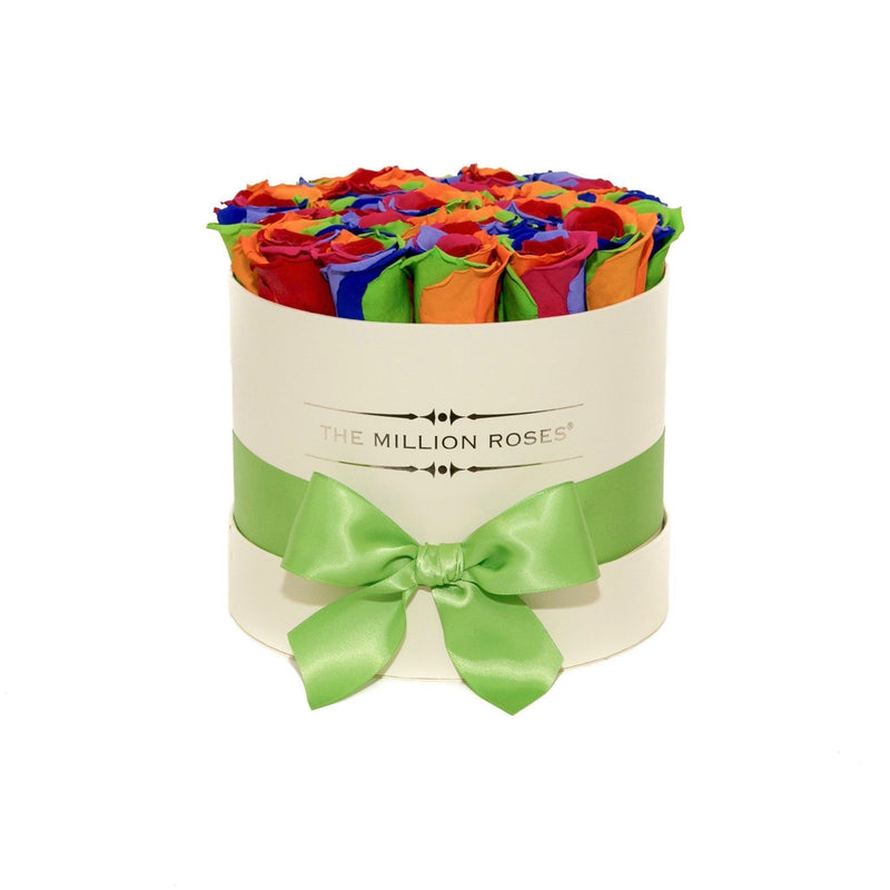 Small - Rainbow Eternity Roses - Vanilla Box - The Million Roses Slovakia