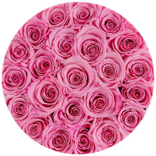 Small - Candy Pink Eternity Roses - White Box - The Million Roses Slovakia