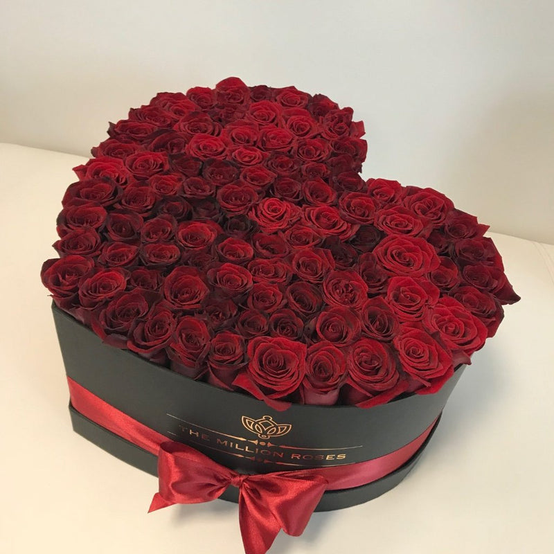 Big Heart Box- Red Roses - The Million Roses Slovakia