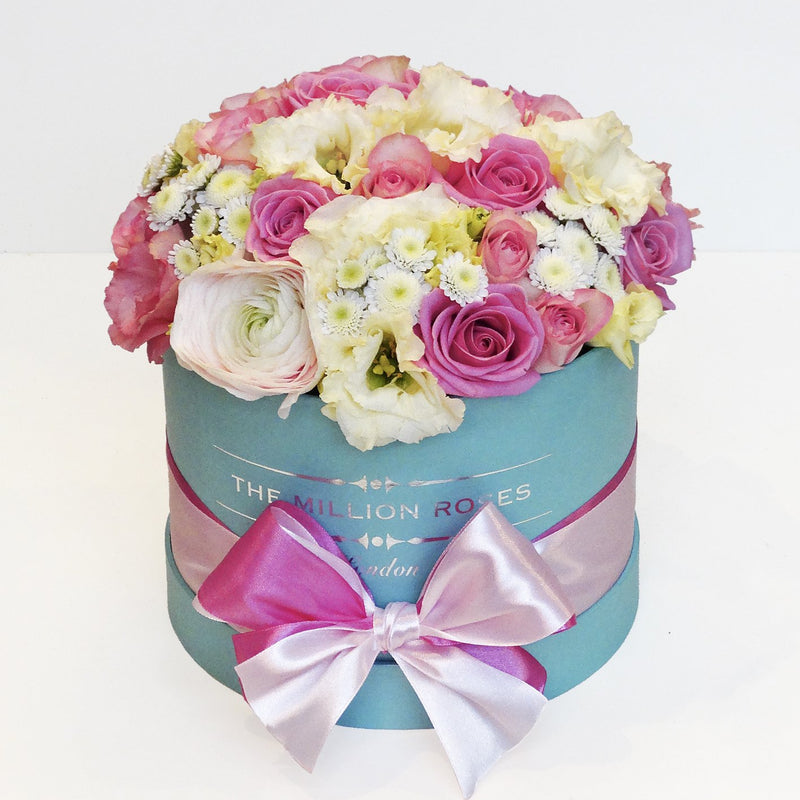 Mix Roses - Small Tiffany Blue Box - The Million Roses Slovakia