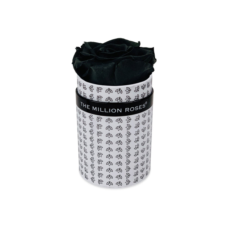 Single Rose Box - White All Over Logo - The Million Roses Slovakia