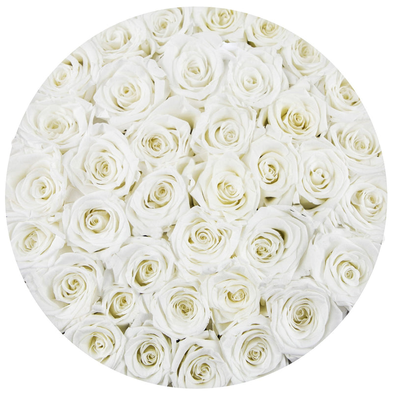 Medium - White Eternity Roses - White Box - The Million Roses Slovakia