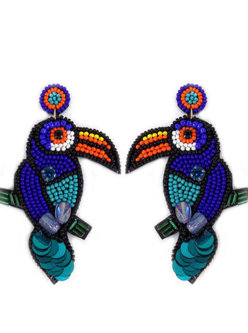 Toucan Beaded Earrings