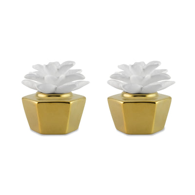 Elegance Gold Clay Diffuser Set of 2 - HYSSES