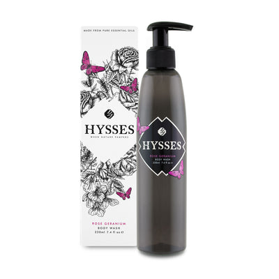 Body Wash Rose Geranium - HYSSES