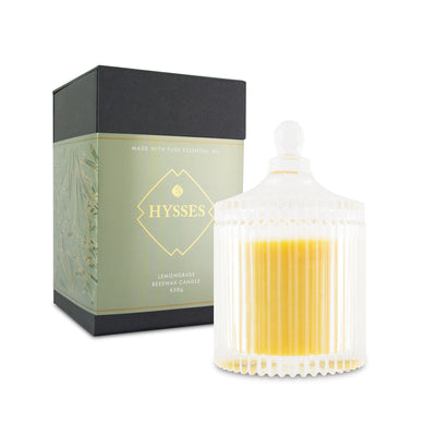 Lemongrass Beeswax Candle - HYSSES