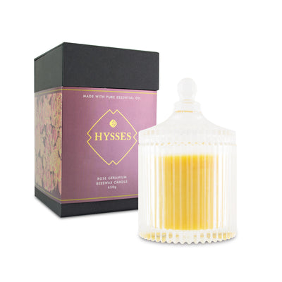 Rose Geranium Beeswax Candle - HYSSES