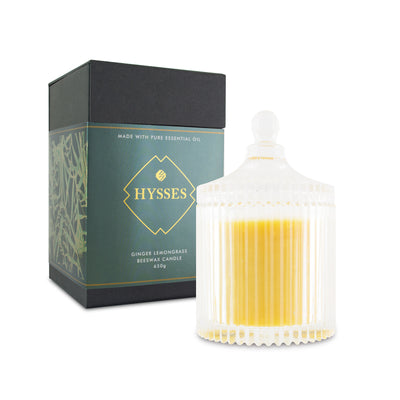 Ginger Lemongrass Beeswax Candle - HYSSES