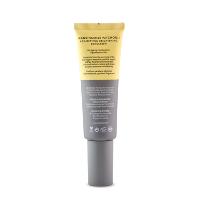 Age Defying Brightening Sunscreen Frankincense Patchouli SPF 40 / PA++ - HYSSES