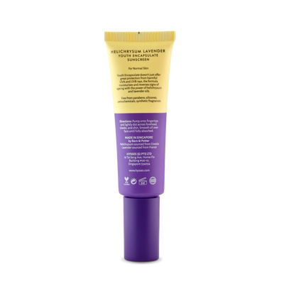 Youth Encapsulate Sunscreen Helichrysum Lavender SPF 40 / PA++ - HYSSES