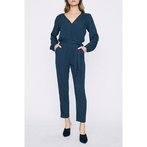 Desk to Dinner Wrap Jumpsuit - Jumpsuit