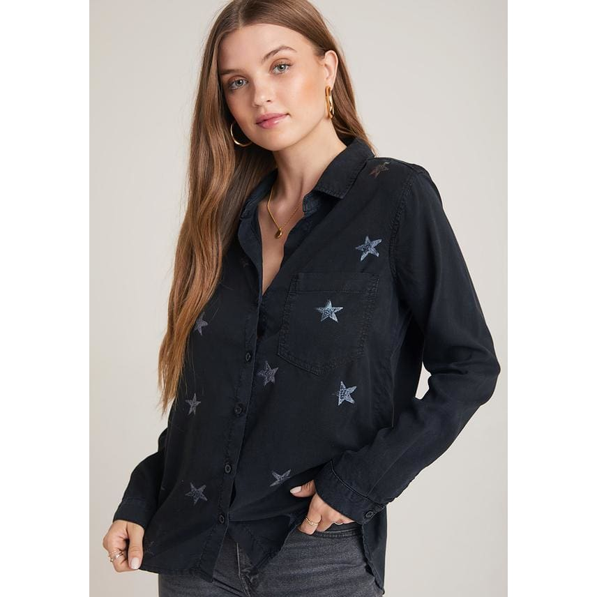 Star Stamp Pocket Button Down - Top