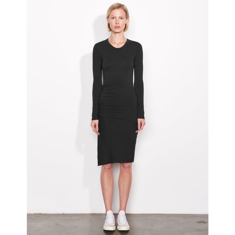 Surplice Ruched Dress - Dress