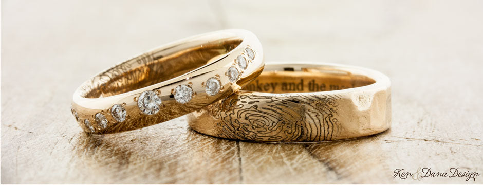 Unique Wedding Bands: Custom & Handmade | Ken & Dana Design