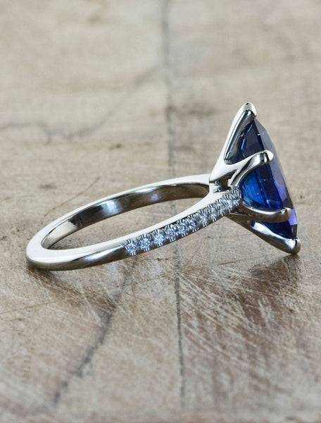 Marquis Sapphire Solitaire Engagement Ring