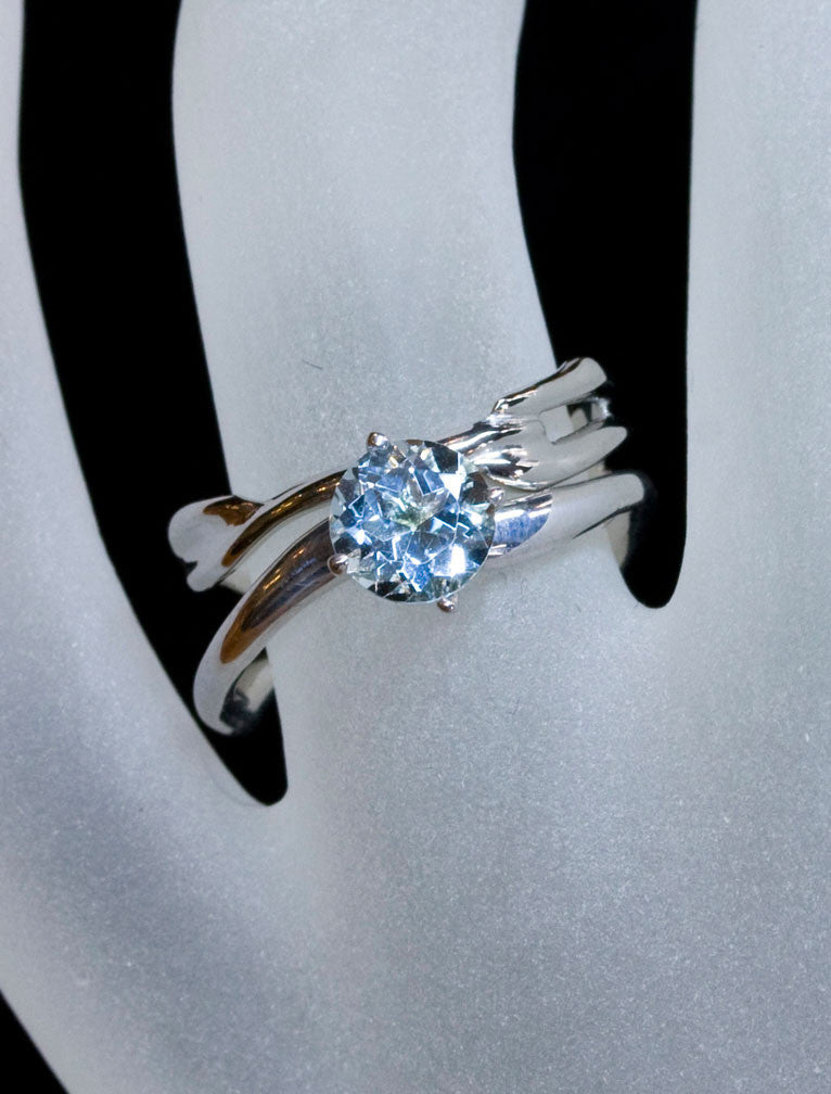 Unique Engagement Rings Ken & Dana Design - Aurora Aqua hand view