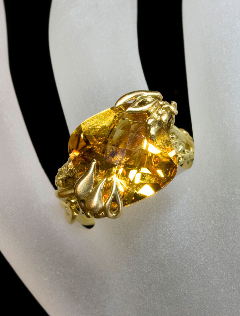 Nature Inspired Citrine Ring