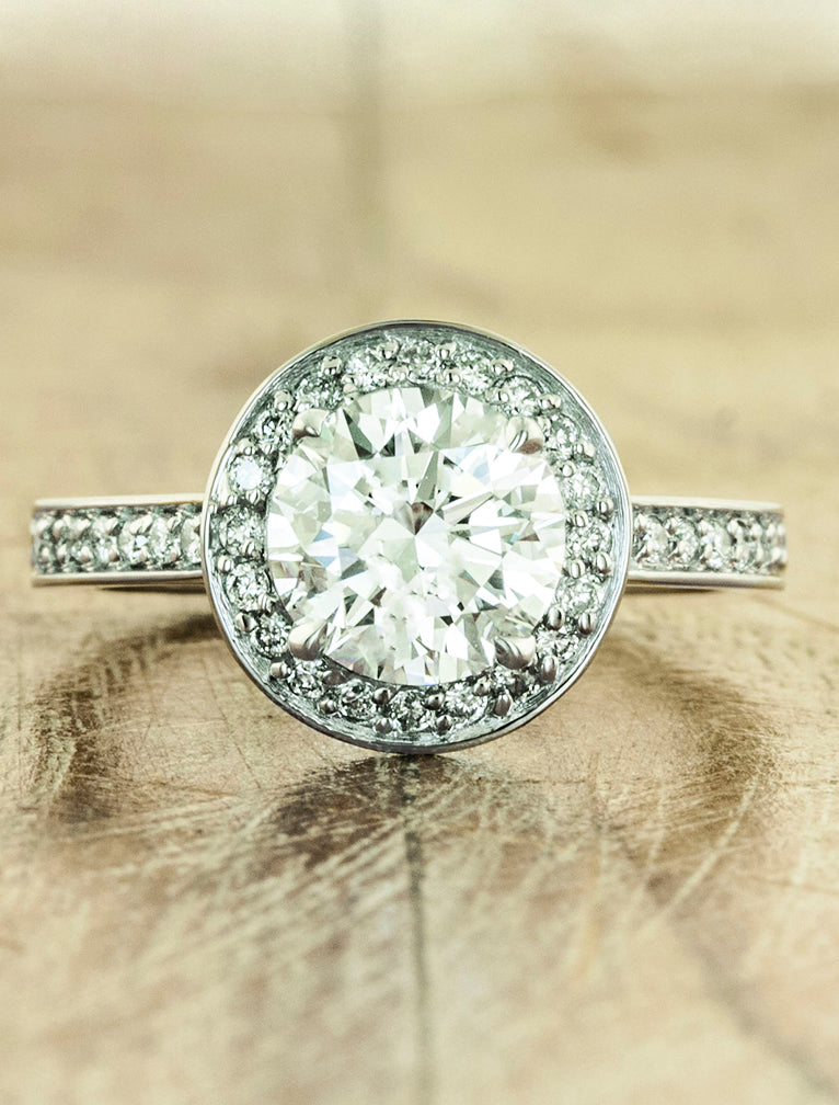 Vintage Inspired Halo Engagement Ring