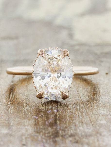caption:Shown with a 2ct oval diamond
