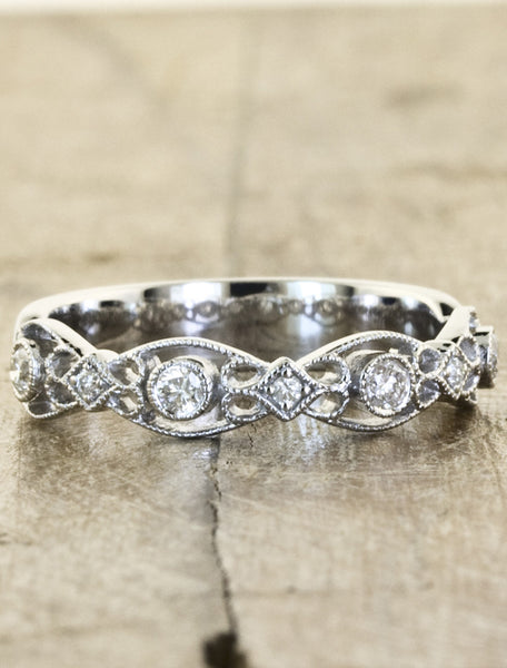 Vintage Inspired wedding band