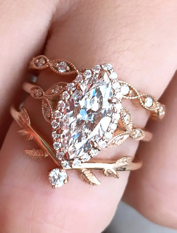 Rachael Marquise Ring Set