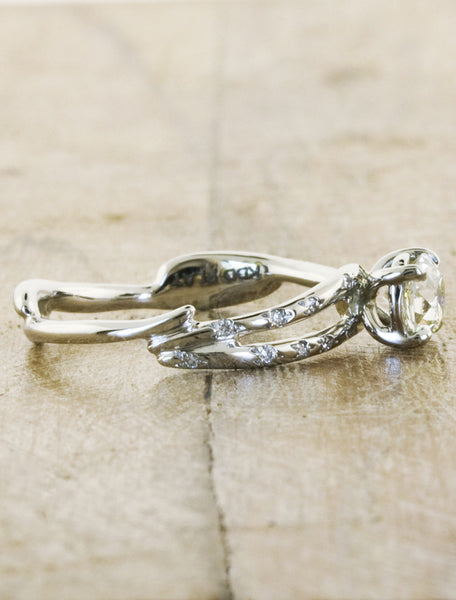 Unique Engagement Rings by Ken & Dana Design - Melinda side view