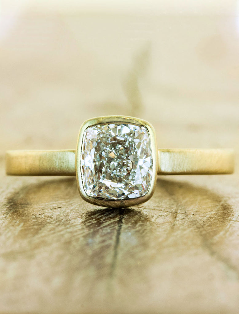 diamond art engagement rings cushion home ring antique deco modern cusion cut in platinum product